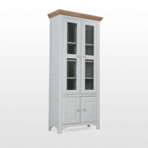 Hannah Two Door Grey Oak Display Cabinet