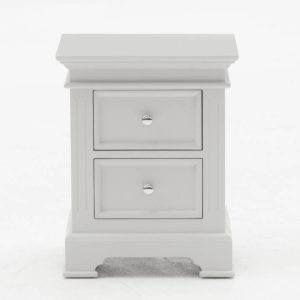 Deauville Dove Grey 2 Drawer Night Table
