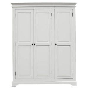 Deauville Dove Grey 3 Door Wardrobe