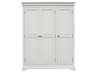 Deauville Dove Grey 3 Door Wardrobe