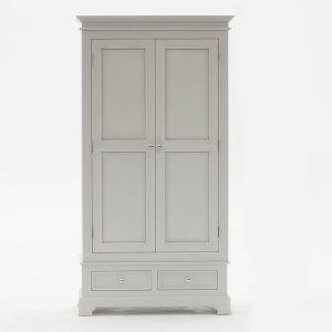 Deauville Dove Grey 2 Door Wardrobe