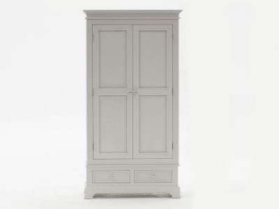 Deauville Dove Grey 2 Door Wardrobe