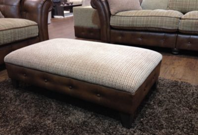 Heathcliffe Banquet Footstool by Lazboy