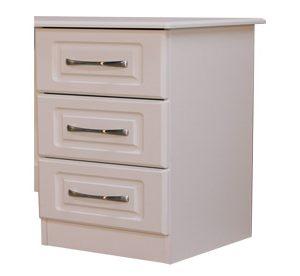 Avoca White 3 Drawer Locker