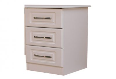 Avoca White 3 Drawer Locker