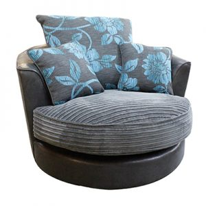 Monique Swivel Chair (Plain Fabric)