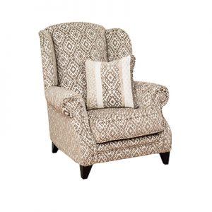 Eton Wing Chair (Plain Fabric)