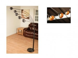 Aruba Black & Gold Floor Lamp