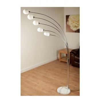 Aruba White Shade Floor Lamps