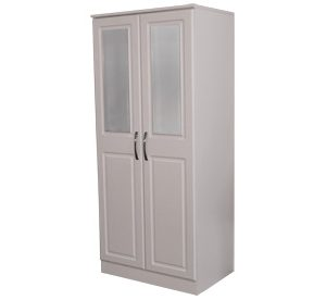 Avoca White Robe 2 Door - all hanging