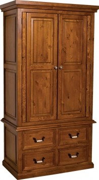 Country 2 Door 4 Drawer Wardrobe