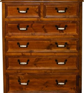 Country 6 Drawer Tallboy