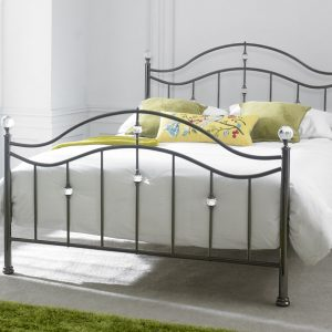 Cygnus Black Chrome King-Sized Bed