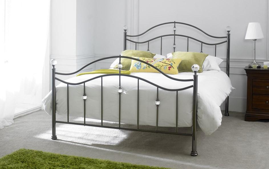Amazing Cygnus Black Chrome King Sized Bed Home Interior And Landscaping Ponolsignezvosmurscom