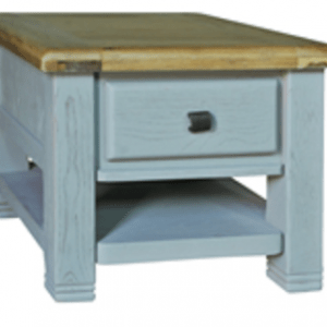 Danube French Grey Lamp Table with Drawers