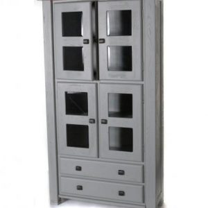 Danube French Grey Display Cabinet
