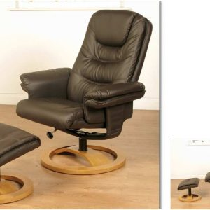 Falcon Black Chair and Footstool