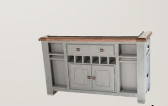 Danube French Grey Kitchen Island