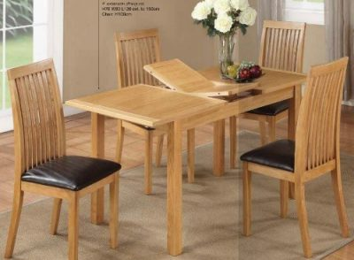 Hartford City Oak 4' Ext. Dining Set