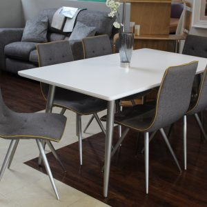 Rimini 1.6M Dining Table With 6 Chairs