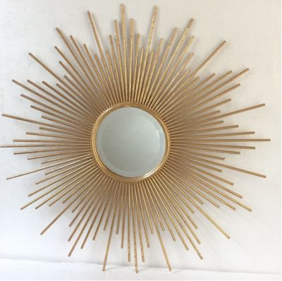 Gold Metal Sunray Mirror