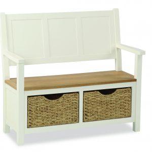 Suffolk Monk Bench With Basket
