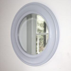 Painted Circle Mirror - Pale Grey