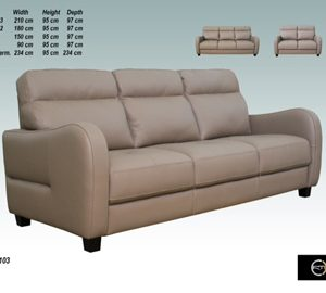Savona Leather 3 Seater