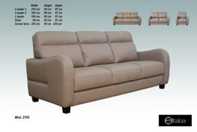 Savona Leather 3 Seater