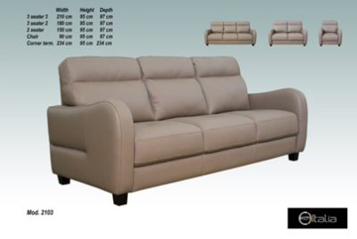 Savona Leather 2 Seater