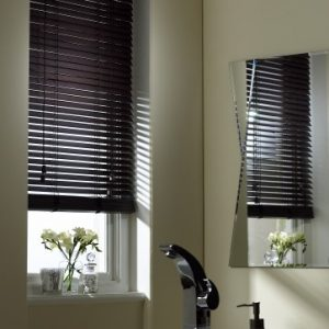 Chocolate Wood Slat Venetian Blinds