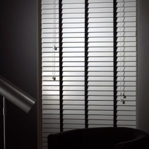 White Wood Slat Venetian Blinds