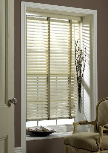 Oyster Wood Slat Venetian Blinds