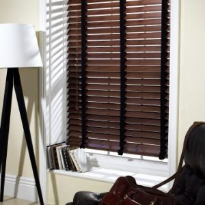 Walnut Wood Slat Venetian Blinds