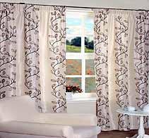 Tarifa Charcoal WPT Ready Made Curtains