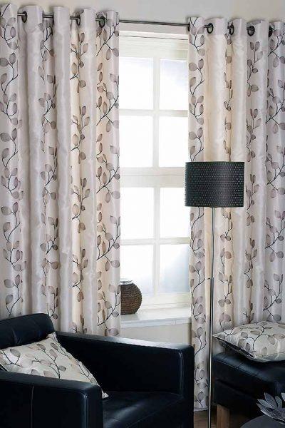 Tarifa Charcoal Ready Made Curtains