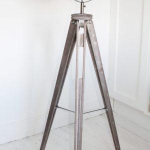 Silver Tripod Mesh Head Floor Lamp