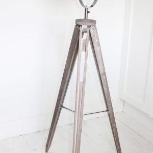 Silver Tripod Plain Head Floor Lamp
