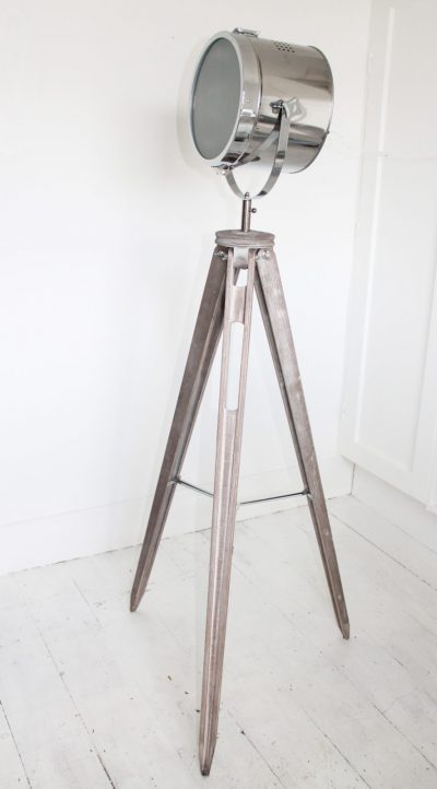 Silver Tripod Plain Head Floor Lamp