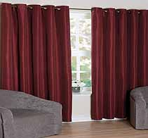 Vegas Burgundy Ready Made Curtains