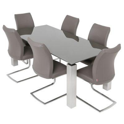 Terenzo 1.8m Glass/Gloss Table