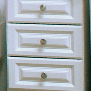 Avoca White 3 Drawer Narrow Chest