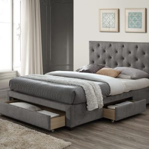 Monet Grey King Bed