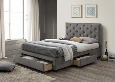 Monet Grey Double Bed
