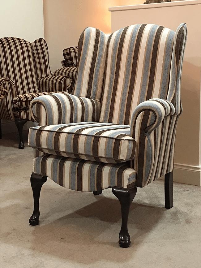 Queen Anne Ps22 Stripe Chair Morgan Doyles