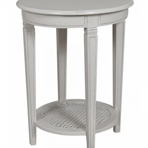 Annabelle Round End Table (Painted Top)