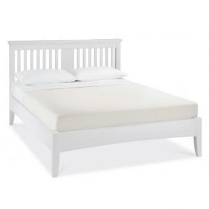 Hampstead White Double Slatted Bedstead
