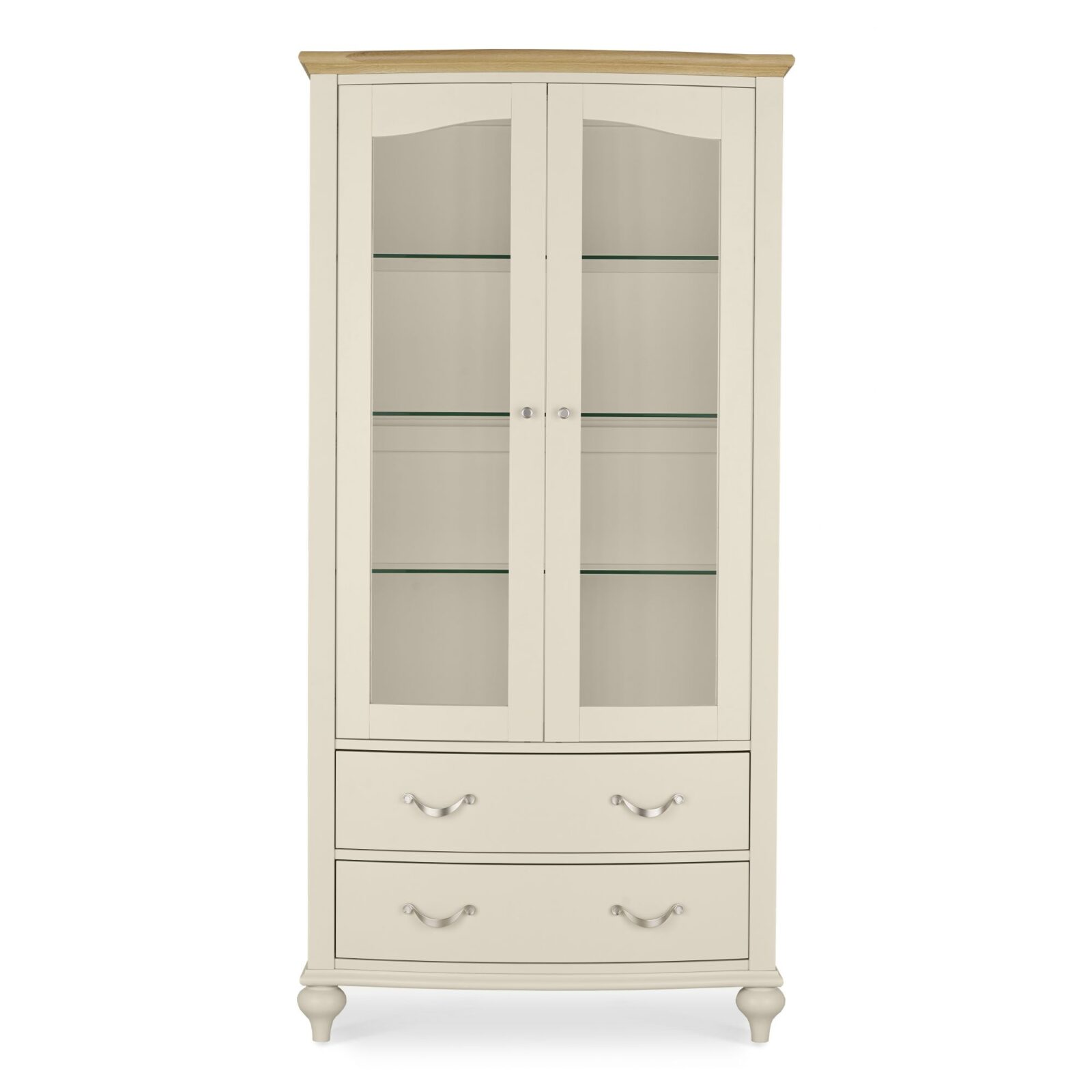 Montreux Antique White Display Cabinet