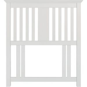 Hampstead White Single Slatted Headboard