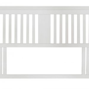 Hampstead White Double Slatted Headboard